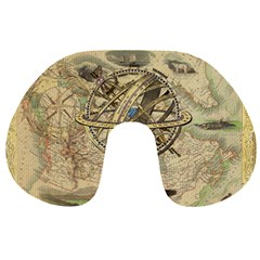 Map Compass Nautical Vintage Travel Neck Pillows by Celenk