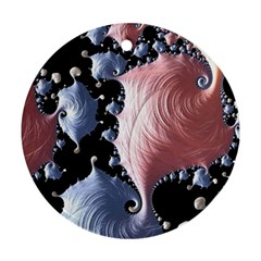 Fractal Art Design Fantasy Science Round Ornament (two Sides)
