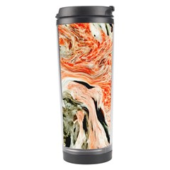 Marble Texture White Pattern Travel Tumbler by Celenk