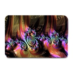 Fractal Colorful Background Plate Mats