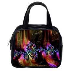 Fractal Colorful Background Classic Handbags (one Side) by Celenk
