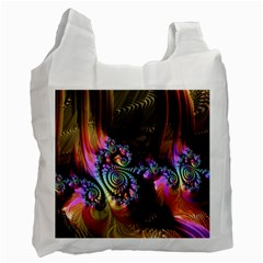 Fractal Colorful Background Recycle Bag (one Side) by Celenk