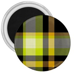 Tartan Abstract Background Pattern Textile 5 3  Magnets by Celenk
