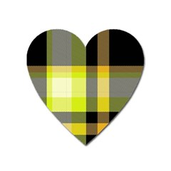 Tartan Abstract Background Pattern Textile 5 Heart Magnet