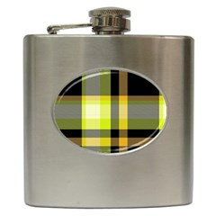 Tartan Abstract Background Pattern Textile 5 Hip Flask (6 Oz) by Celenk