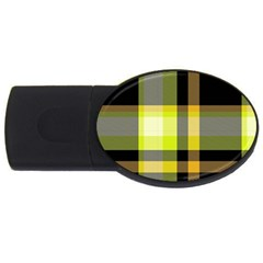 Tartan Abstract Background Pattern Textile 5 Usb Flash Drive Oval (2 Gb)