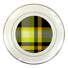 Tartan Abstract Background Pattern Textile 5 Porcelain Plates