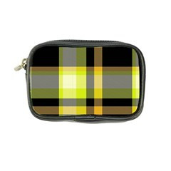 Tartan Abstract Background Pattern Textile 5 Coin Purse