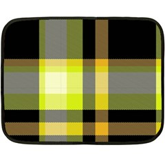 Tartan Abstract Background Pattern Textile 5 Double Sided Fleece Blanket (mini)  by Celenk