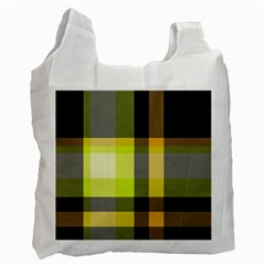 Tartan Abstract Background Pattern Textile 5 Recycle Bag (one Side)