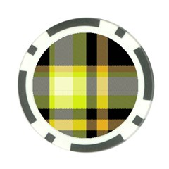 Tartan Abstract Background Pattern Textile 5 Poker Chip Card Guard (10 Pack)