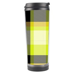 Tartan Abstract Background Pattern Textile 5 Travel Tumbler