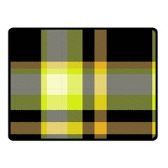 Tartan Abstract Background Pattern Textile 5 Double Sided Fleece Blanket (small)