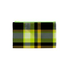 Tartan Abstract Background Pattern Textile 5 Cosmetic Bag (xs) by Celenk