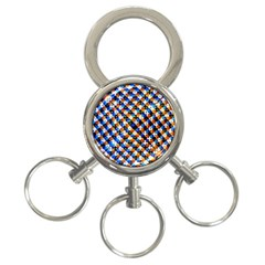 Kaleidoscope Pattern Ornament 3 Ring Key Chains by Celenk