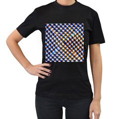Kaleidoscope Pattern Ornament Women s T Shirt (black) (two Sided)