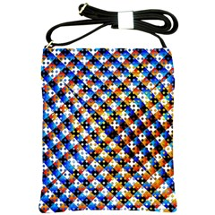 Kaleidoscope Pattern Ornament Shoulder Sling Bags by Celenk
