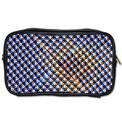 Kaleidoscope Pattern Ornament Toiletries Bags 2 Side by Celenk