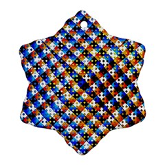 Kaleidoscope Pattern Ornament Ornament (snowflake) by Celenk
