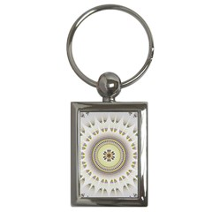 Mandala Fractal Decorative Key Chains (rectangle)  by Celenk