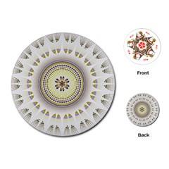 Mandala Fractal Decorative Playing Cards (round)  by Celenk