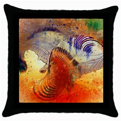 Dirty Dirt Image Spiral Wave Throw Pillow Case (black) by Celenk