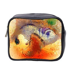 Dirty Dirt Image Spiral Wave Mini Toiletries Bag 2 Side by Celenk