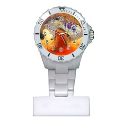Dirty Dirt Image Spiral Wave Plastic Nurses Watch by Celenk