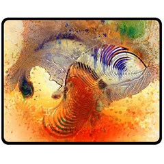Dirty Dirt Image Spiral Wave Double Sided Fleece Blanket (medium)  by Celenk