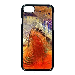 Dirty Dirt Image Spiral Wave Apple Iphone 8 Seamless Case (black) by Celenk