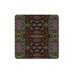 Pattern Abstract Art Decoration Square Magnet