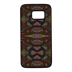 Pattern Abstract Art Decoration Samsung Galaxy S7 Black Seamless Case