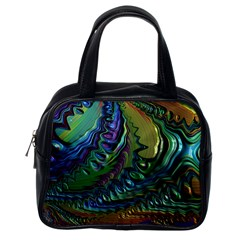 Fractal Art Background Image Classic Handbags (one Side)