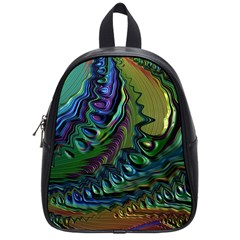 Fractal Art Background Image School Bag (small)