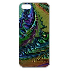 Fractal Art Background Image Apple Seamless Iphone 5 Case (clear)