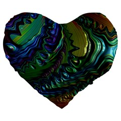 Fractal Art Background Image Large 19  Premium Flano Heart Shape Cushions by Celenk