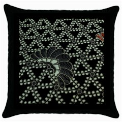 Batik Traditional Heritage Indonesia Throw Pillow Case (black) by Celenk