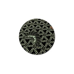 Batik Traditional Heritage Indonesia Golf Ball Marker (4 Pack)