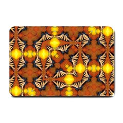 Dancing Butterfly Kaleidoscope Small Doormat  by Celenk