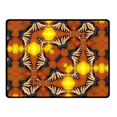 Dancing Butterfly Kaleidoscope Fleece Blanket (small) by Celenk