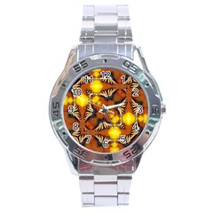 Dancing Butterfly Kaleidoscope Stainless Steel Analogue Watch by Celenk