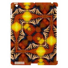 Dancing Butterfly Kaleidoscope Apple Ipad 3/4 Hardshell Case (compatible With Smart Cover) by Celenk