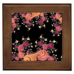Fractal Fantasy Art Design Swirl Framed Tiles by Celenk