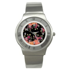 Fractal Fantasy Art Design Swirl Stainless Steel Watch