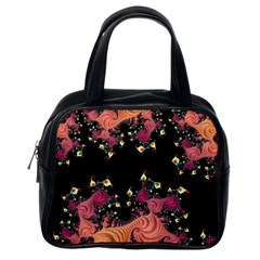Fractal Fantasy Art Design Swirl Classic Handbags (one Side)