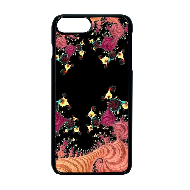 Fractal Fantasy Art Design Swirl Apple iPhone 7 Plus Seamless Case (Black)