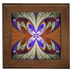 Fractal Splits Silver Gold Framed Tiles by Celenk