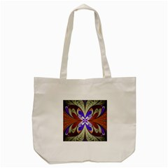 Fractal Splits Silver Gold Tote Bag (cream) by Celenk