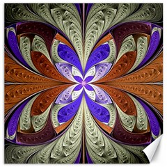 Fractal Splits Silver Gold Canvas 12  X 12   by Celenk