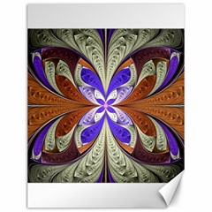 Fractal Splits Silver Gold Canvas 12  X 16   by Celenk